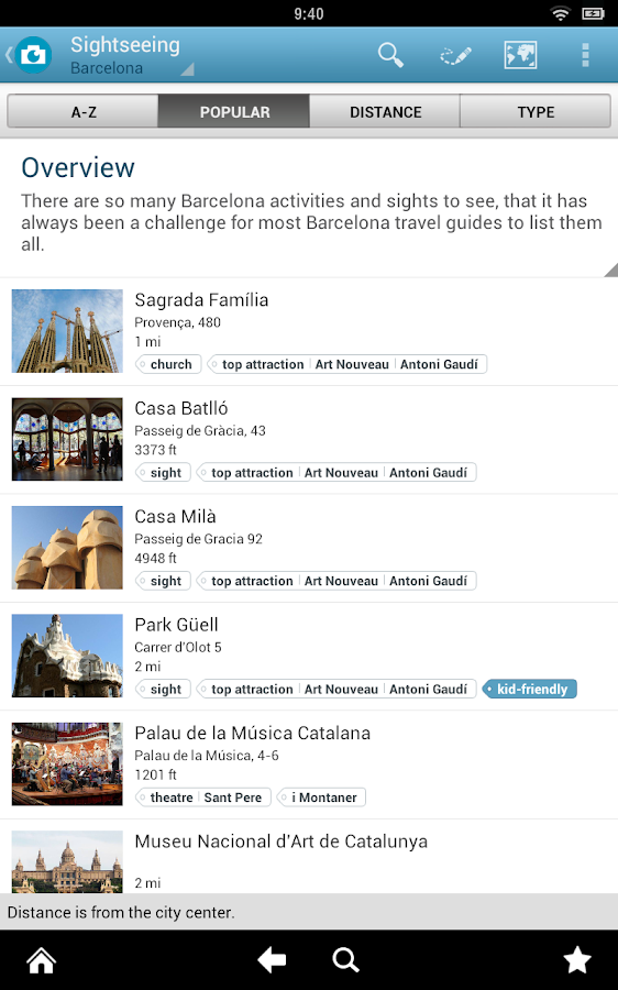 Barcelona Travel Guide Triposo- screenshot
