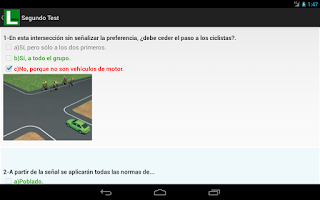 Screenshot of Tests de Conducir Autoescuela