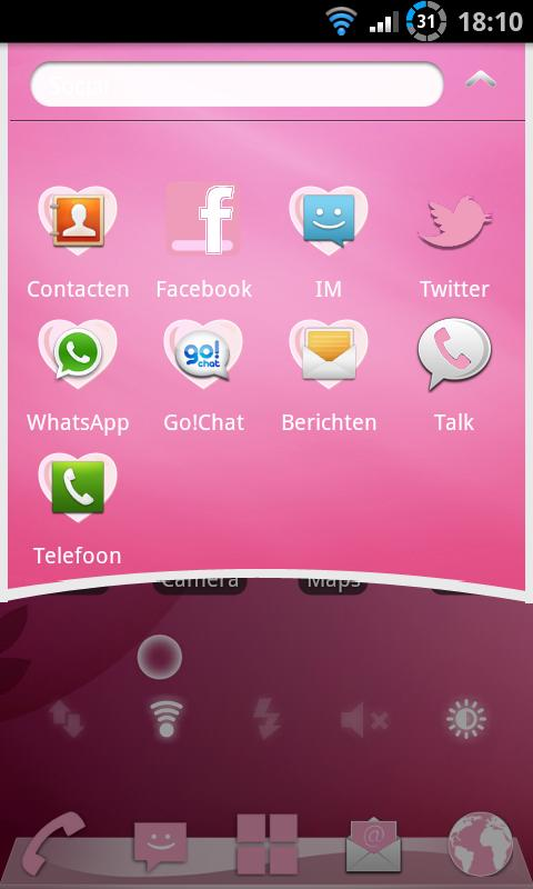 Elegant Pink Theme GO Launcher - screenshot