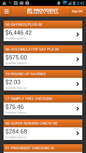 Provident CU Mobile Banking - screenshot thumbnail