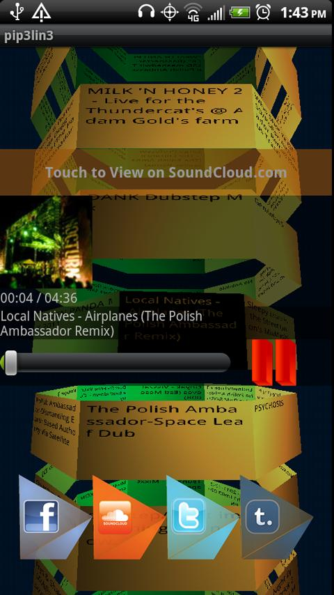 Pip3lin3 for SoundCloud - screenshot
