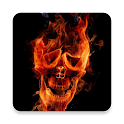 Scary Skull Fire 3D Wallpaper icon
