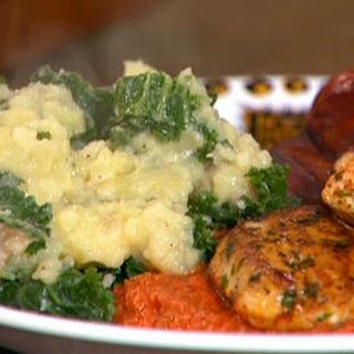 Chicken and Chorizo Romesco with Spanish Potatoes and Kale