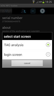 inViu NFC-tracker - screenshot thumbnail