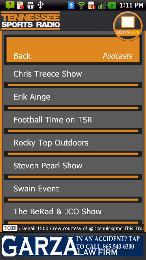 TN Sports Radio 1180 AM - screenshot