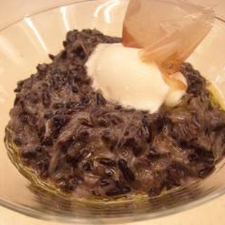Black Rice Risotto With Crab