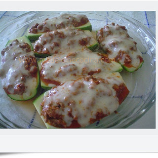 Zucchini Boats with Ground Beef.
