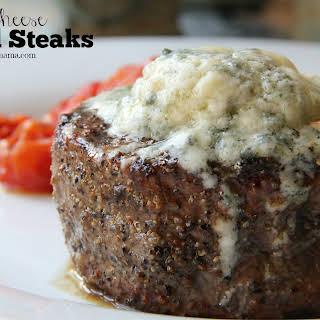 Bleu Cheese Baked Steaks.