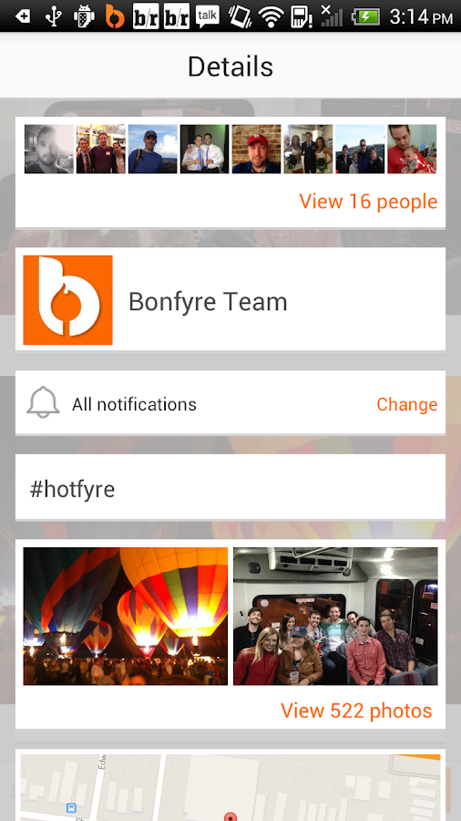 Bonfyre: Group Text and Photos - screenshot