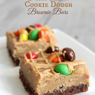 Peanut Butter Cookie Dough Brownie Bars.