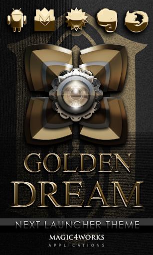 Next Launcher Theme Golden D