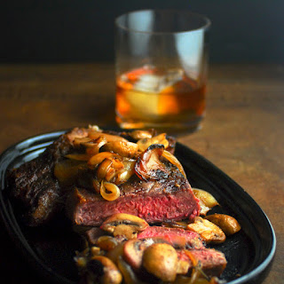 Perfect Ribeye with Caramelized Onions & Mushrooms