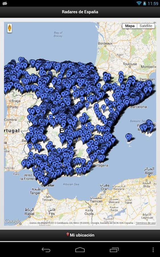 Mapa radares espa a my blog for Localizador codigos postales
