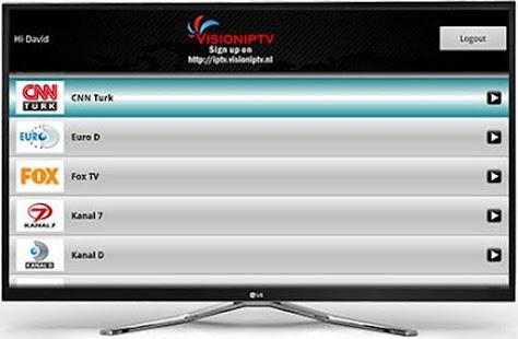 VisionIPTV for GoogleTV- screenshot thumbnail
