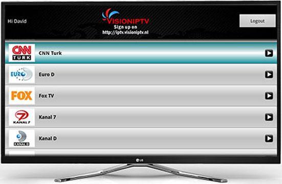 VisionIPTV for GoogleTV- screenshot