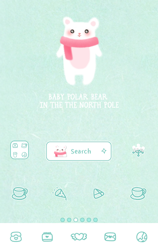 baby polar bear dodol theme