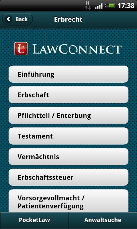 Erbrecht- screenshot