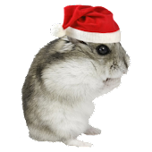 Christmas Hamster Sticker