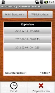 WorkTime Log screenshot 2