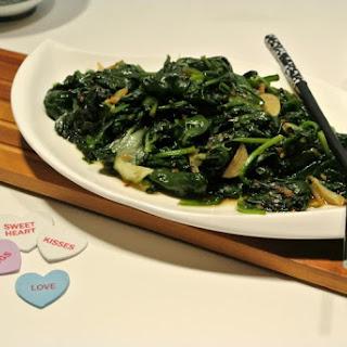 Seasoned Spinach #SundaySupper.