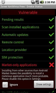 Zoner AntiVirus- screenshot thumbnail