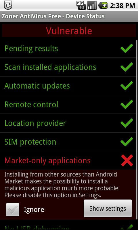 Zoner AntiVirus Free – Screenshot