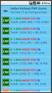 Indian Railway PNR Status - screenshot thumbnail