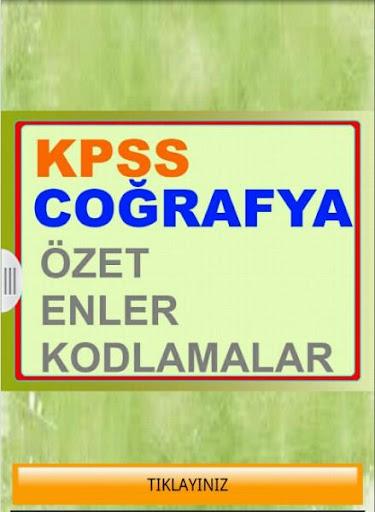 KPSS Coğrafya Özet Enler Kod