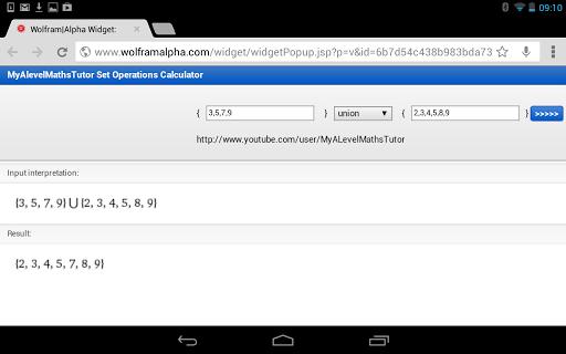 Set Operations Calculator