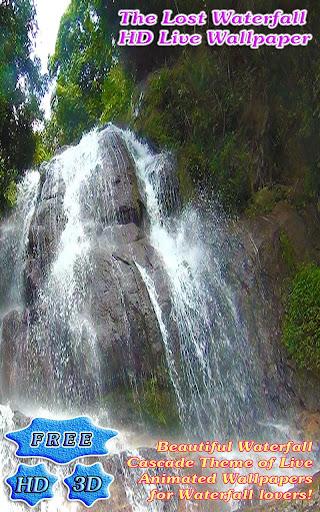 3D Lost Waterfall Free