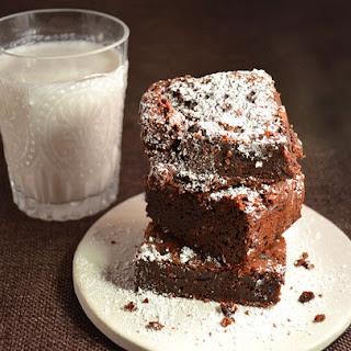 Moist Double Chocolate Brownies with Crunchy Sea Salt