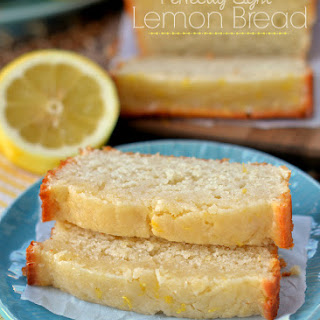 Glazed Light Lemon Bread.