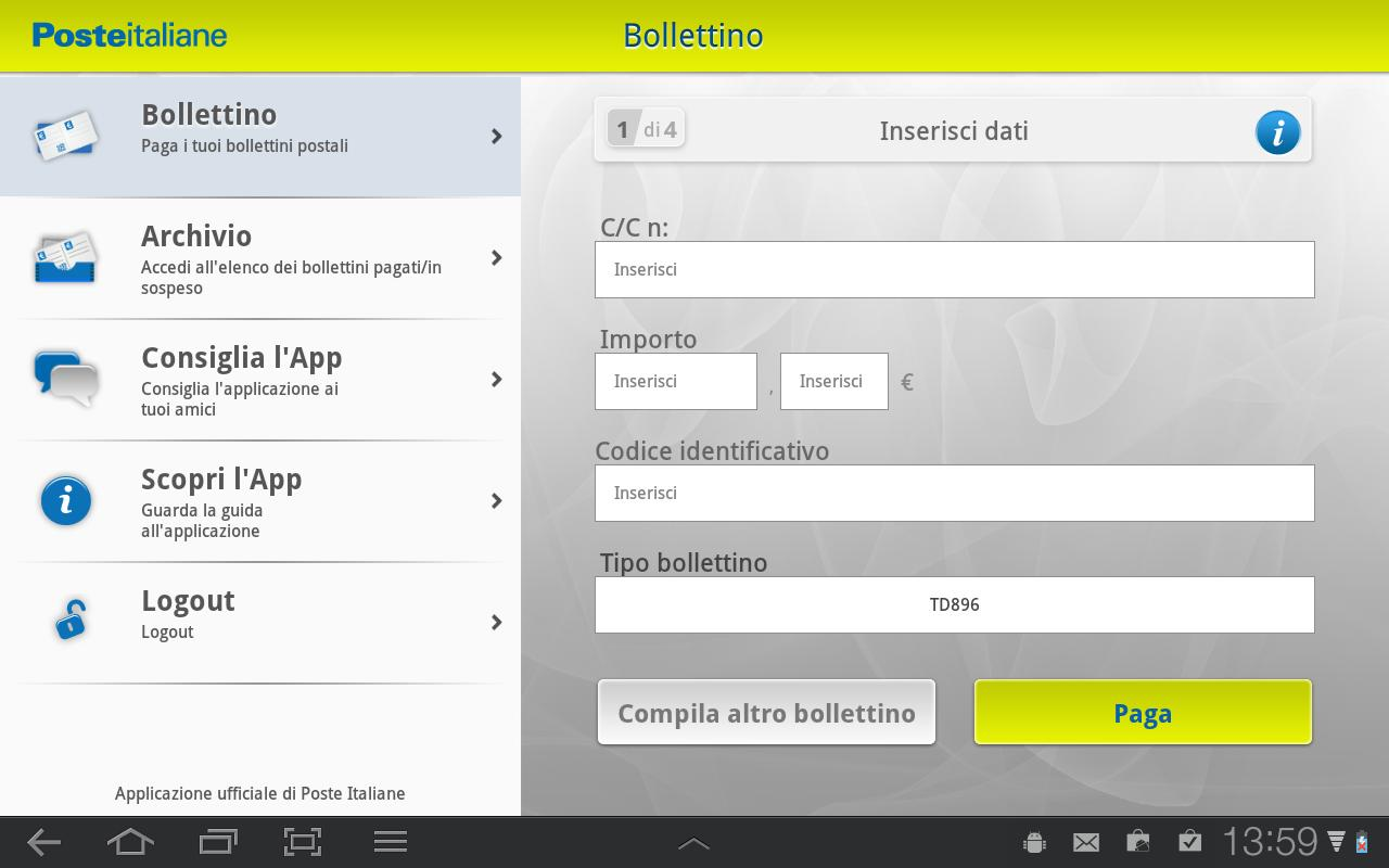 Bollettino - screenshot