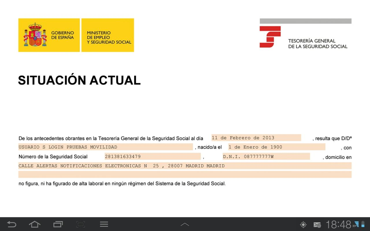Seg-Social Certificados e Inf. - Android Apps on Google Play