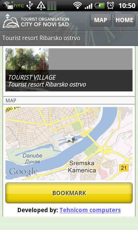 Novi Sad City Guide Lite - screenshot