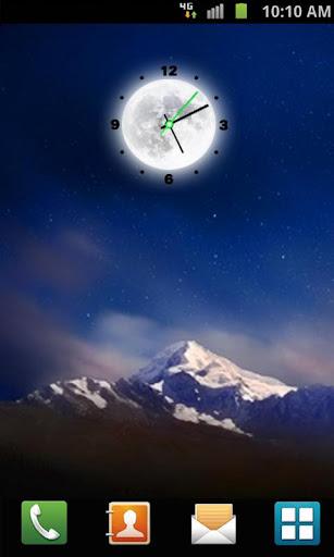 Moon Clock Live Wallpaper