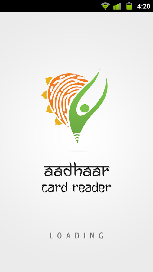 Aadhaar Card Reader - screenshot