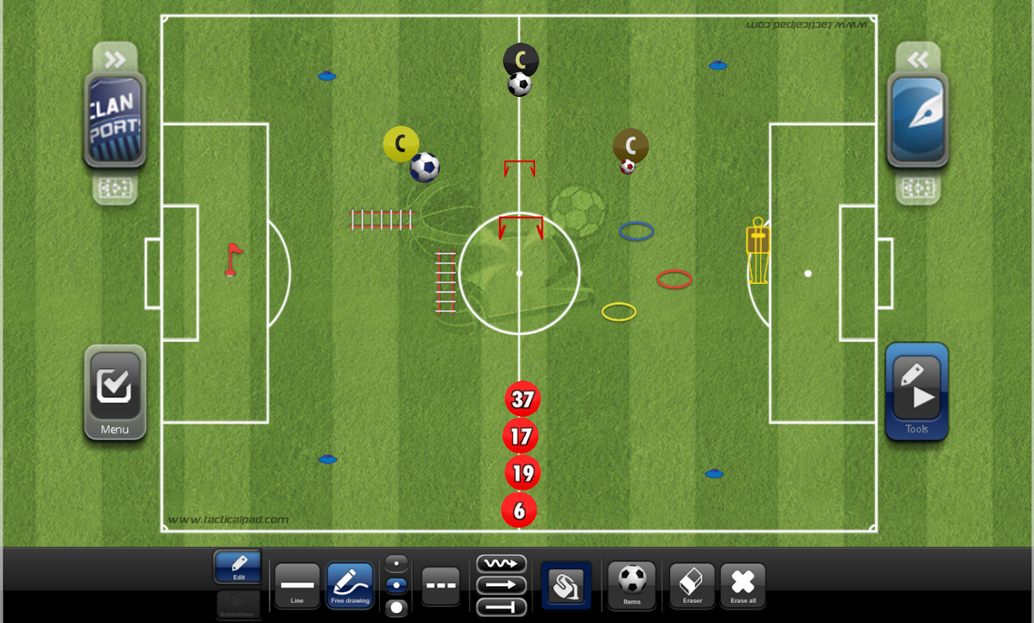 TacticalPad: Coach's Whiteboard, Sessions & Drills- screenshot