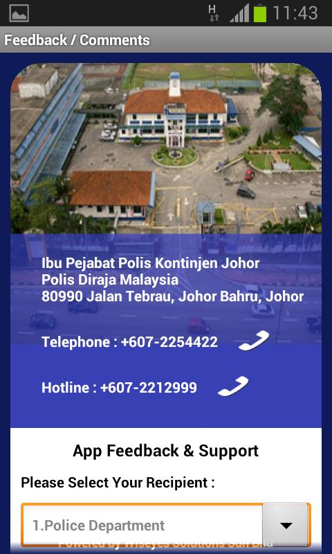 Polis Johor e-Alerts App - screenshot