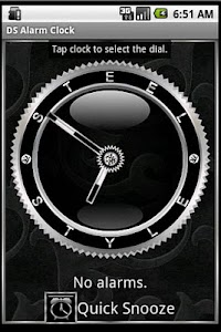 Silver Alarm Clock Widget screenshot 0