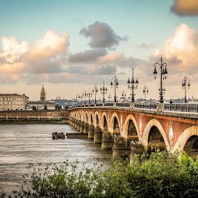 Bridge in Bordeaux by Jack Brittain - Buildings & Architecture Bridges & Suspended Structures ( selected, 2013-09, publish, Urban, City, Lifestyle,  )