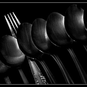 Dare to be Different by Sudarmanto Edris - Black & White Objects & Still Life ( kitchen utensil, silverware, cutlery )