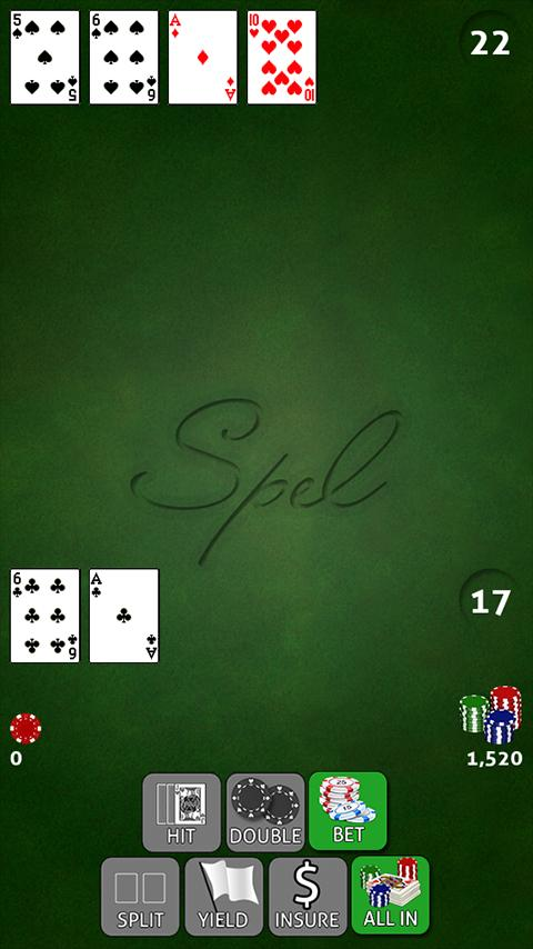 Spel Blackjack Free- screenshot