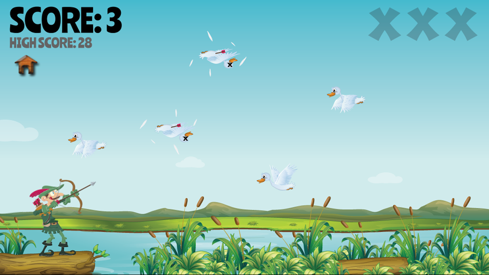 Duck Bow Hunt Free- screenshot