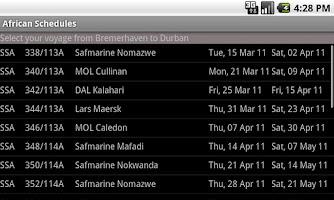 Screenshot of AfricanSchedules