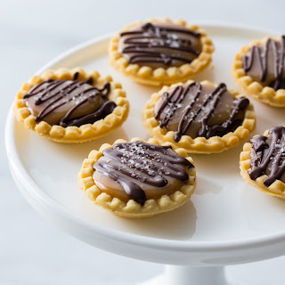Mini Salted Caramel Chocolate Pies.