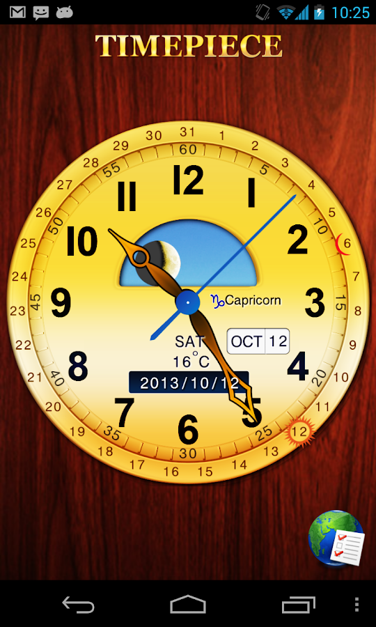 Clockwise Timepiece (+Widget) - screenshot