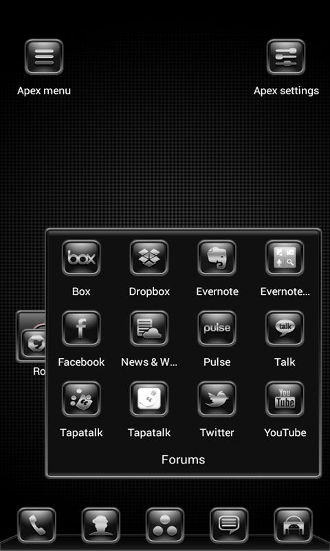 Silver Nitrate Apex/ADW Theme- screenshot