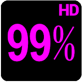 BN Pro Percent-b Neon HD Text icon