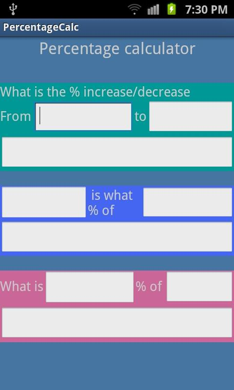 google percentage calculator